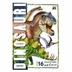 Obrázek omalovánka A4 Dinosauři