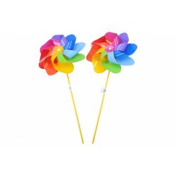 Obrázek Větrník barevný duhový 47 cm průměr 20cm