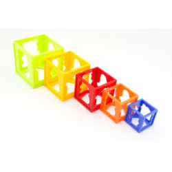 Obrázek Kubus pyramida skládanka hranatá plast 5ks  15x16x10cm 12m+