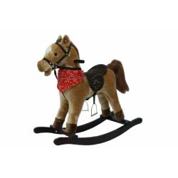 Obrázek Kůň houpací hnědý plyš  se zvukem a pohybem nosnost 50kg
