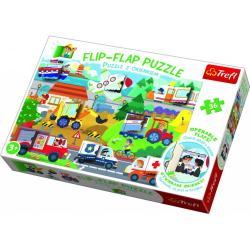 Obrázek Puzzle 36 dílků Flip-flap Auta