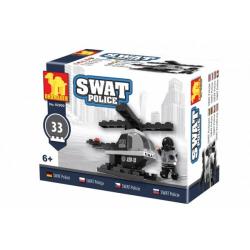 Obrázek Stavebnice Dromader Swat policie vrtulník 32 dílků v krabičce 10x7x4,5cm