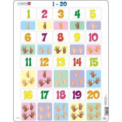 Obrázek Puzzle Prsty na ruce od 1 - 20 20 dílků