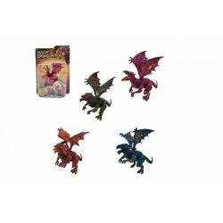 Obrázek Drak/Dráček plast 12cm 6 druhů na kartě 17x23x5cm