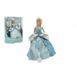 Obrázek Panenka kloubová Anlily zimní princezna plast 28cm v krabici 27x33x8cm