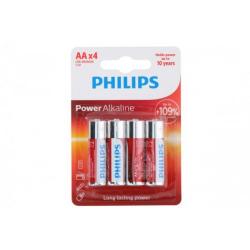 Obrázek Baterie Philips AA(LR6) 1,5V 4ks na kartě Alkaline
