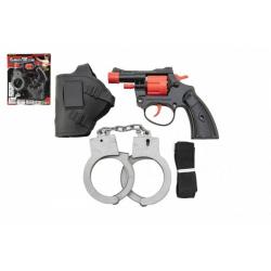 Obrázek Pistole na kapsle 8 ran plast 13cm s pouzdrem s pouty na kartě