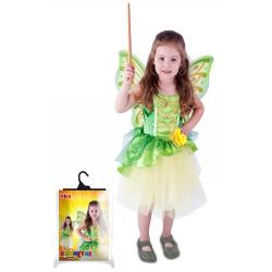 Obrázek kostým víla Zelenka s křídly, velikost S