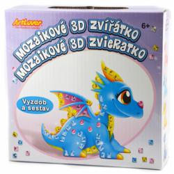 Obrázek 4x Mozaiková 3D zvířátka draci
