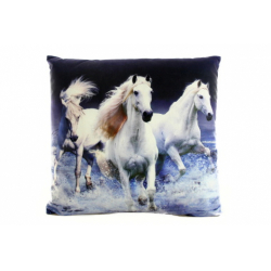 Obrázek Polštářek 33 x 33 cm koně