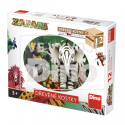 Obrázek Dřevěné kostky Zafari 12