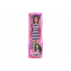Obrázek Barbie Modelka - pruhované šaty s dlouhými rukávy GYB02