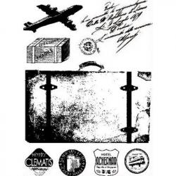 Obrázek Gélová pečiatky - Cestovanie - lietadlo, kufor
