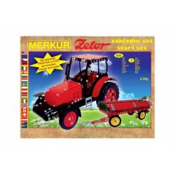 Obrázek Stavebnice MERKUR Zetor základní set 646ks 3 vrstvy v krabici 36x27x8,5cm