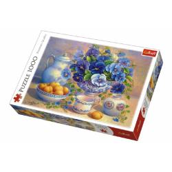 Obrázek Puzzle Modrá Kytice 1000 dílků