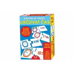 Obrázek Puzzle deskové Naučme se hravě určovat čas v krabici 20x28x4cm