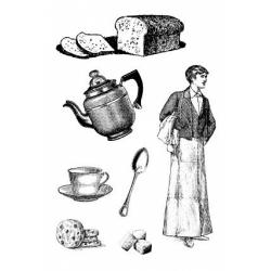 Obrázek Razítka na pěnovce - Čaj o páté