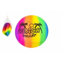 Obrázek Míč plážový gumový nenafouknutý 23cm v síťce