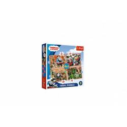 Obrázek Puzzle Mašinka Tomáš 4v1 Cesta kolem světa v krabici 28x28x6cm