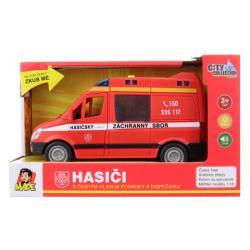 Obrázek Auto hasičská dodávka na setrvačník s reálným hlasem posádky