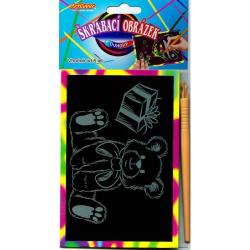 Obrázek Vyškrabávacie obrázky- Dúhové, v balení 24 ks, zadajte počet kusov, cena je za 1ks