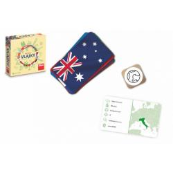 Obrázek Poznej vlajky cestovní společenská hra v krabičce 13x13x4cm