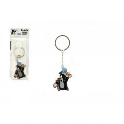 Obrázek Kovový přívěšek Krtek s lopatkou na klíče 5cm v sáčku