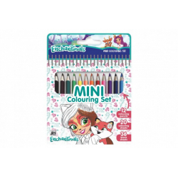 Obrázek Mini set blok s omalovánkami s 12 pastelkami Enchantimals 11x15cm
