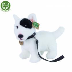Obrázek Plyšový pes anglický bulteriér s vodítkem stojící 23 cm ECO-FRIENDLY