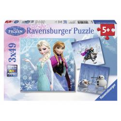 Obrázek Puzzle Ledové království 3 x 49d