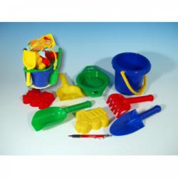 Obrázek Kbelík sítko lopatka kupecká lopatka hrabičky plast