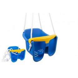 Obrázek Houpačka Baby modrá plast 33x30x28cm nosnost 25kg v síťce 12m+