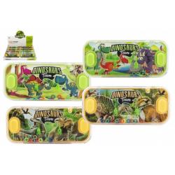 Obrázek Vodní hra hlavolam 15x7cm plast dinosaurus 4 druhy 24ks v boxu