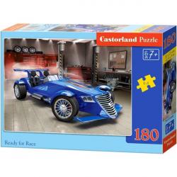 Obrázek Puzzle Castorland 180 dílků - Připraven na závod - modrá formule