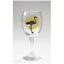Obrázek Sklenice na víno - Plameňák