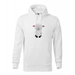 Obrázek Pánská Mikina Cape - Veselá zvířátka - Ovečka, vel. M , bílá
