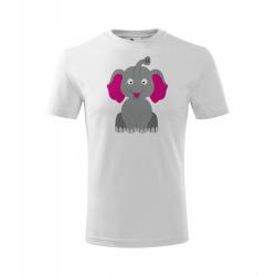 Obrázek Dětské Tričko Classic New - Veselá zvířátka - Sloník, vel. 6 let - bílá
