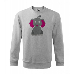 Obrázek Mikina Essential - Veselá zvířátka - Sloník, vel. 12 let - šedý melír