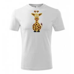 Obrázek Pánské Tričko Classic New - Veselá zvířátka - Žirafa, vel. S , bílá