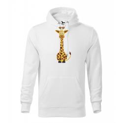 Obrázek Pánská Mikina Cape - Veselá zvířátka - Žirafa, vel. M , bílá