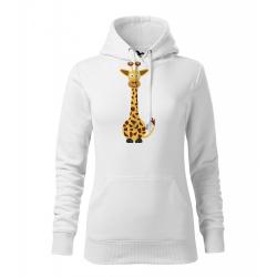 Obrázek Dámská Mikina Cape - Veselá zvířátka - Žirafa, vel. M , bílá