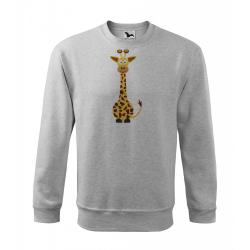 Obrázek Mikina Veselá zvířátka - Žirafa, vel. 12 let , šedý melír