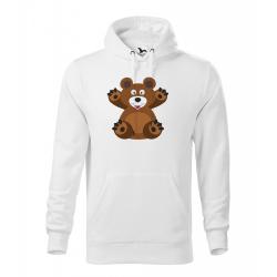 Obrázek Pánské Tričko Classic New - Veselá zvířátka - Medvídek, vel. S , bílá