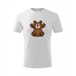 Obrázek Dětské Tričko Classic New - Veselá zvířátka - Medvídek, vel. 6 let - bílá