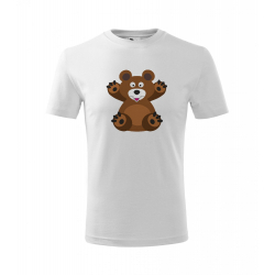 Obrázek Dětské Tričko Classic New - Veselá zvířátka - Medvídek, vel. 6 let , bílá
