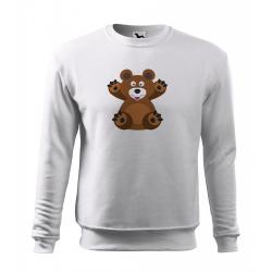 Obrázek Mikina Veselá zvířátka - Medvídek, vel. 12 let , bílá