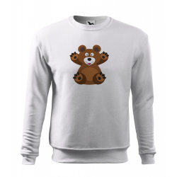 Obrázek Mikina Essential - Veselá zvířátka - Medvídek, vel. 12 let - bílá