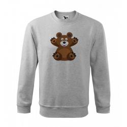 Obrázek Mikina Essential - Veselá zvířátka - Medvídek, vel. 12 let - šedý melír