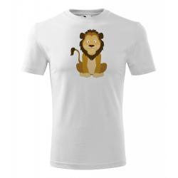 Obrázek Pánské Tričko Classic New - Veselá zvířátka - Lvíček, vel. S - bílá