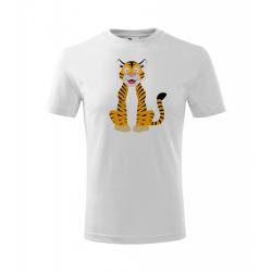 Obrázek Dětské Tričko Classic New - Veselá zvířátka - Tygřík, vel. 6 let - bílá